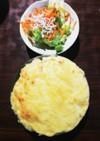 炊飯チキンライスのホワイトドリア★☆