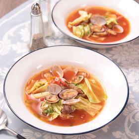 うまみたっぷり☆あさりトマトスープ