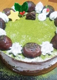 大人のクリスマス~抹茶と和栗のケーキ~