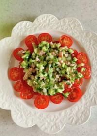トマトの具だくさんドレッシングサラダ