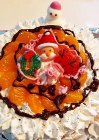 子どもと作る☆簡単クリスマスケーキ