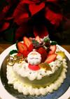 簡単イチゴのクリスマスケーキ