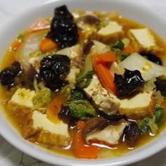 八宝菜~「麻婆豆腐の素」を使って~