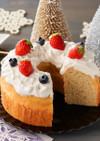 簡単♪糖質オフのシフォン風いちごケーキ