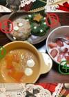 クリスマスプレート~離乳食全期~