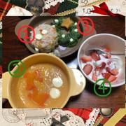 クリスマスプレート~離乳食初期→完了期~の写真