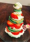 簡単 HM クリスマスツリーケーキ