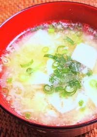 豆富と卵のふんわり味噌汁