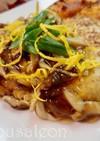 チキンハンバーグ 椎茸のあんかけ