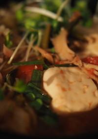 マンマミーア鍋(トマト納豆キムチ野菜鍋)