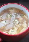ふわふわ卵のコンソメスープ