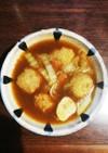 冷凍鶏肉だんごの野菜カレースープ