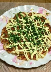 白菜&チーズ&ベーコンで洋風?お好み焼き