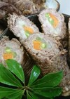 おせち◼️野菜の牛肉巻き(すきやき味)