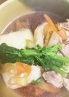 麺つゆ豚こまでお雑煮