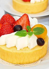 簡単バームクーヘンいちごケーキ