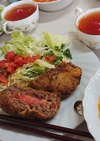 秋穂トマトのメンチカツ(改良版)