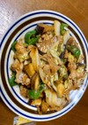 茄子とピーマンと白菜の味噌豚炒め