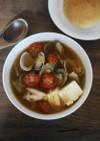 あさりとトマトのチゲスープ