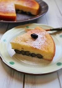 HMで簡単!黒豆のヨーグルトケーキ