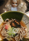 リカちゃん♡残りお節アレンジ昆布巻き蕎麦