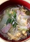具沢山の中華スープ