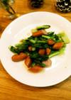 朝食に✿小松菜とウィンナーのコンソメ炒め