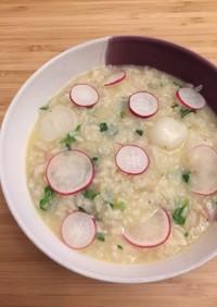 七草リゾット✨生米から作ります!