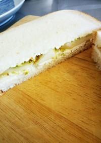 クリームチーズとラフランスのサンドイッチ