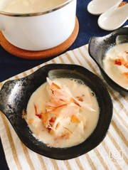 包丁いらずで簡単!食べる豆乳スープの写真