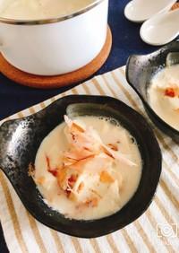 包丁いらずで簡単!食べる豆乳スープ