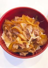 すき焼きの割下 de 牛丼