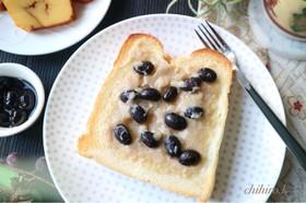 黒豆のメロンパン風トースト☆