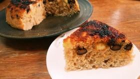 炊飯器で楽々●HMで黒豆と薩摩芋のケーキ