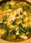 豆乳鍋の素でつくる●赤味噌麻婆豆腐風雑炊