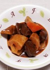 余った根菜煮物と牛タンのデミグラ煮込み