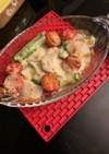 鎌倉ハムと野菜のトースターチーズ焼き