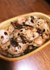 レンコン海老キノコのこっくり炒め