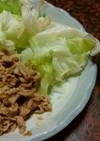 豚肉の味噌炒め&ブナシメジと舞茸の味噌汁
