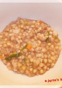 鶏鍋つゆで蕎麦の実 七草粥・雑炊