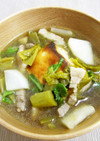 焼き餅と高菜のスープ