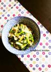 たくあんと青菜の炒り豆腐