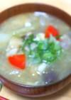 豚バラ肉と根菜の呉汁