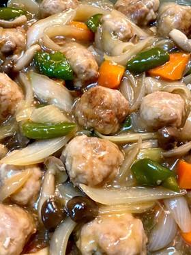 シャキシャキ野菜と豚肉の肉団子甘酢餡