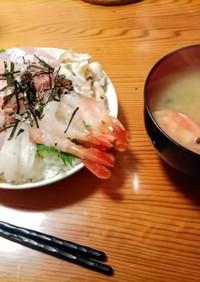 海の幸盛りライス(海鮮丼)