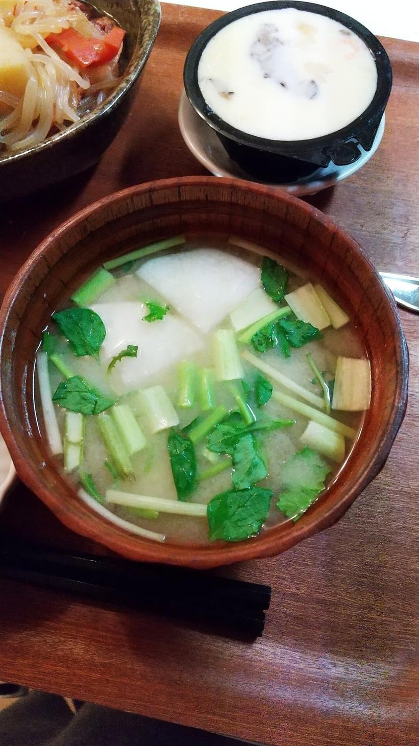アレンジ七草粥 味噌汁