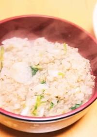 煎り玄米の七草粥