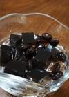 おせちの黒豆の煮汁で寒天