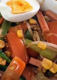 野菜たっぷりサンマーメン風!