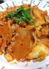 野菜たっぷり♡大根のひき肉のキムチ炒め